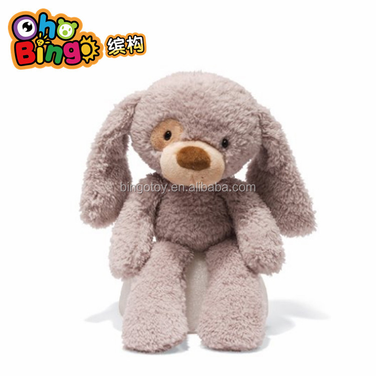 Latest High quality Lovely plush feeder toy for suckling dog with long ear, pull toy mechanism, floppy dog plush toys