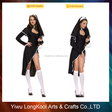 Fashion style halloween sexy nun costume