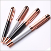 Rose Gold Color Metal Roller Ball Gel Pen with Cap for Promotional