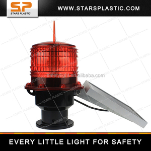 Chimney Solar Powered Aviation Obstruction Building Tower Led Warning Light  Airport Runway Taxiway Rotating Beacon Lights