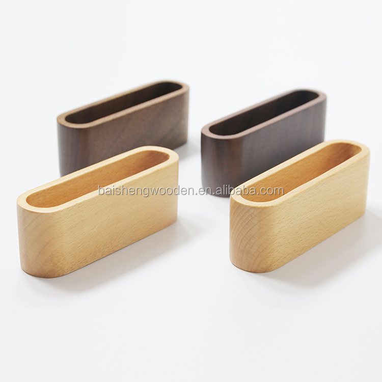 Cheap Creative Concise gift Pen holder business card Wooden Box