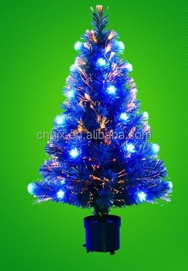 120 cm verlichting plastic pine cone remier fibre optic led kleur groen plastic plaat kerstboom