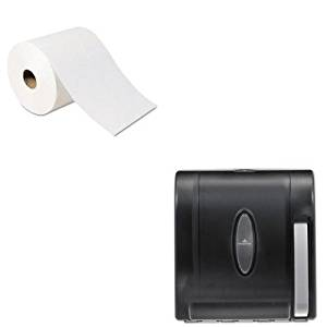 KITGEP26100GEP54338 - Value Kit - Georgia Pacific High-Capacity Nonperf Paper Towels (GEP26100) and Georgia-Pacific Vista 54338 Black Hygienic Push Paddle Roll Paper Towel Dispenser (GEP54338)