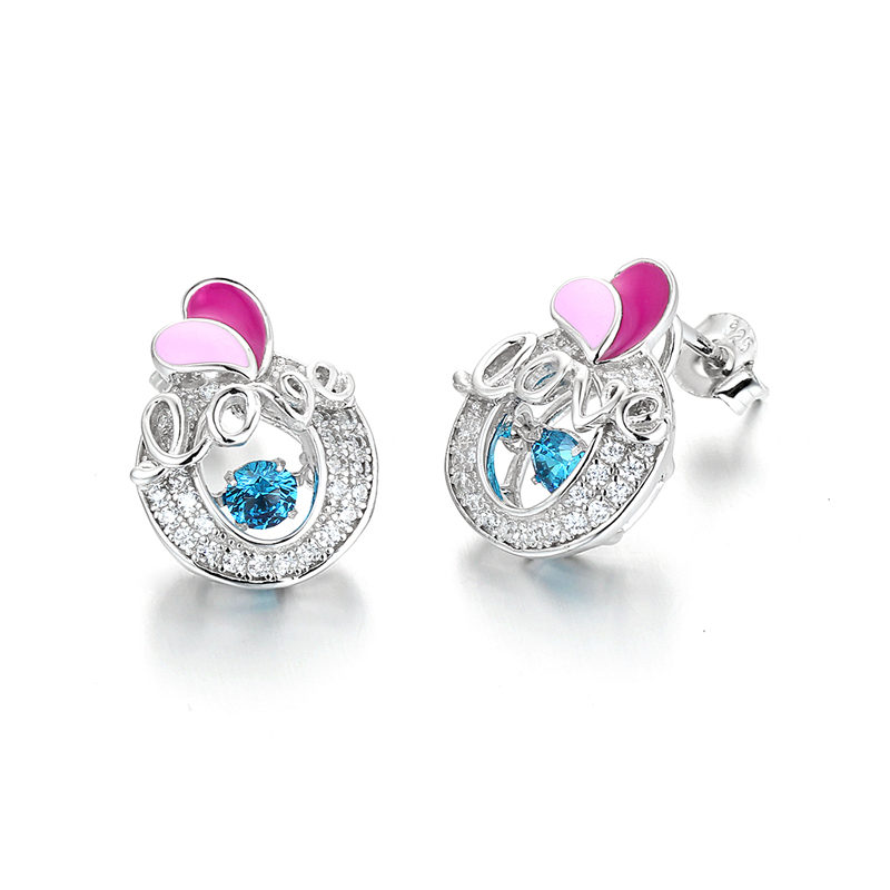 Heart Shape Love Ladies Earrings Designs Pictures