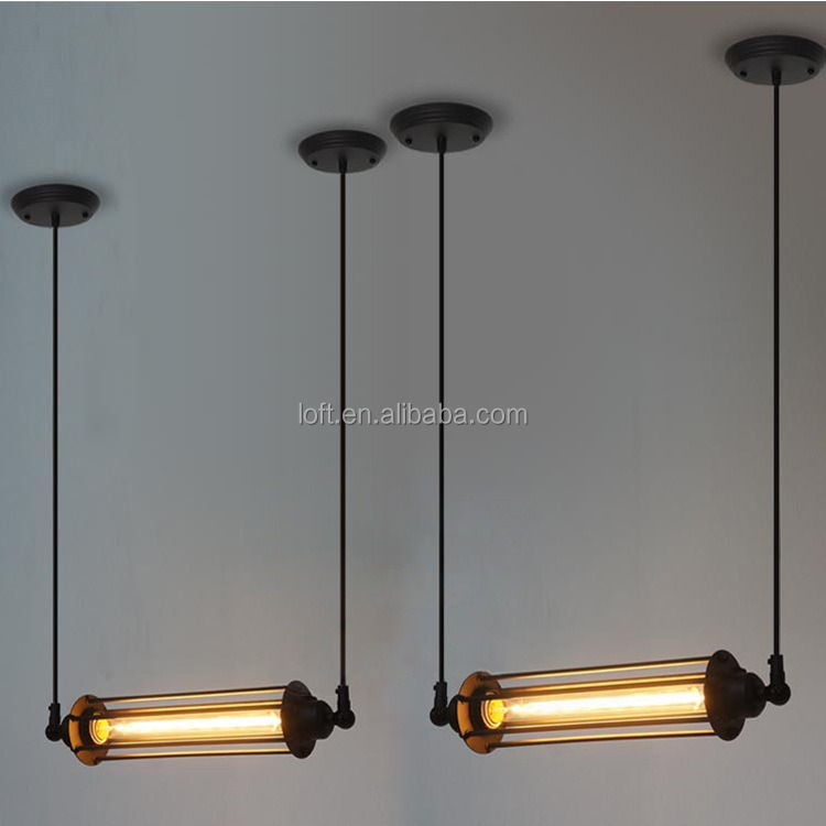 Industrial Transverse Long Cylindrical Pendant Lamp Classics ...