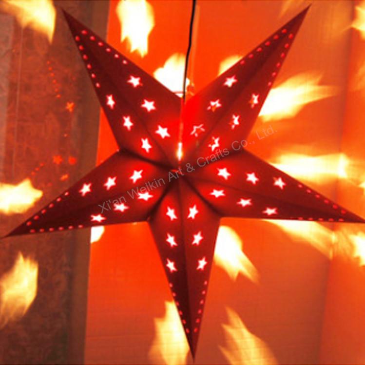 Led Light Paper Lanternchristmas Star Lmini String
