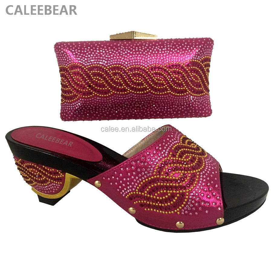 Shoes Ladies Bags Wine Wedding Set Style And For Color Noble IBxU7g