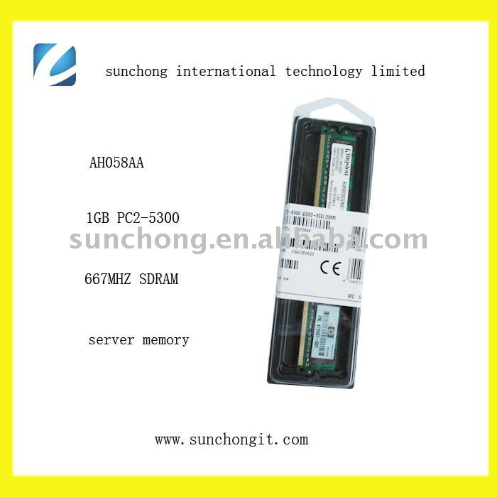 AH058AA sound 1gb ecc ddr2 pc800 ram memory