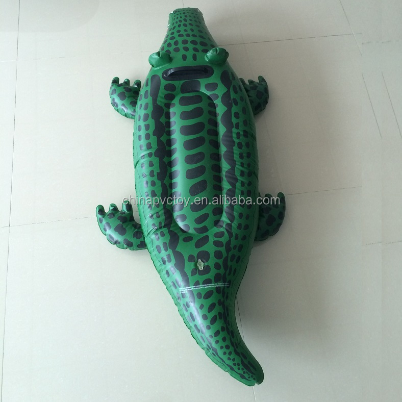 pvc inflatable product crocodile float /inflatable alligator small toys float for children