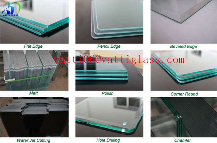 25mm Slumped Glass Glass Slab Manufacturer 1 Inch Thick