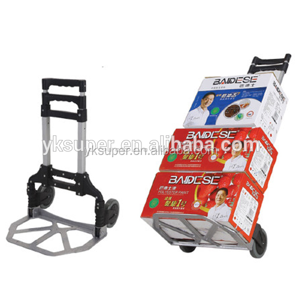 Folding Aluminum two wheel folding hand cart hand push food cart for sale SP-441