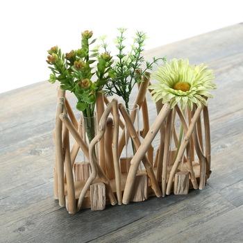 Recycle Driftwood Test Tube Vase Use For 3 Flower Holder Buy