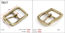 Good brass polished H prong buckle for men's high quality leather belt