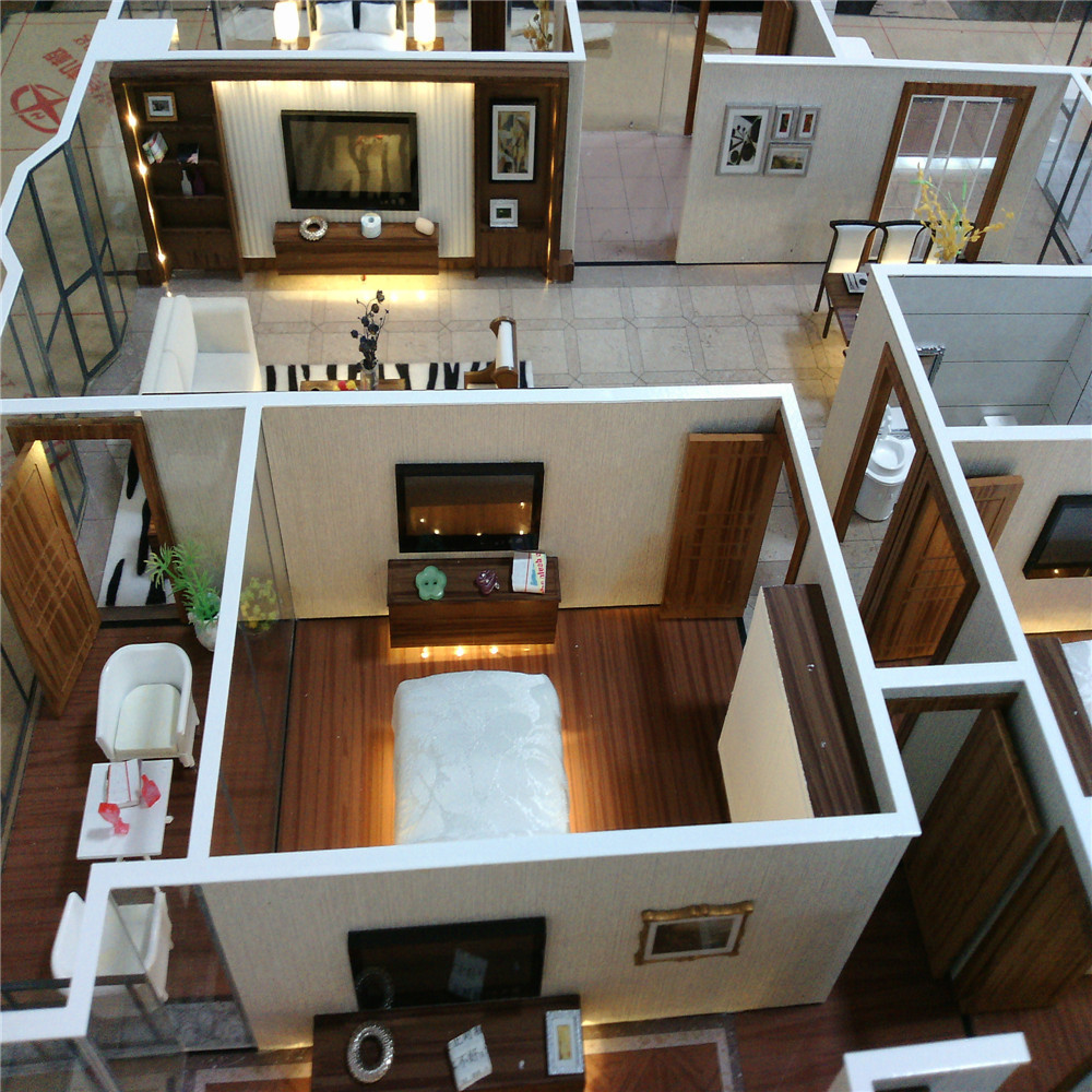 Interior layout house model scale model apartment Scale model furniture