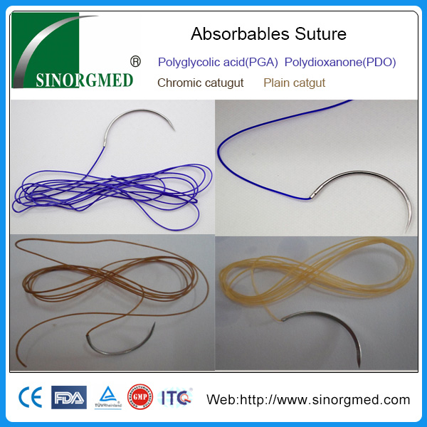 Medical Natural Chromic Catgut/plain Catgut(absorbable) Sutures With Needle  - Buy Medical Natural Chromic Catgut/plain Catgut(absorbable) Sutures With