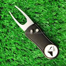 Stock wholesale rotatable and foldable golf accessories divot repair tool