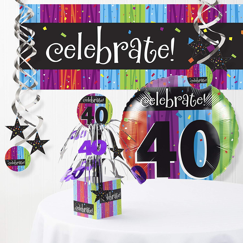 Milestone Celebrations 40th Birthday Decorations Kit