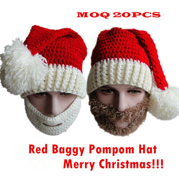 Fashion Christmas Santa Knit Hat Handmade Crochet LED Ski Warmer Cap with  Breathable Face Mask 4353c8b71795