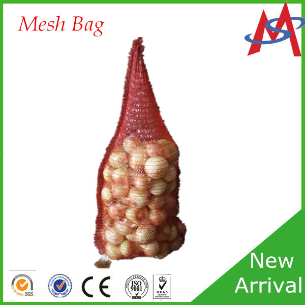 Cheap Price Red Orange Green Violet Purple firewood knitted mesh bag