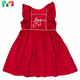 embroidery woven cotton sleeveless baby dress valentines day girl dress