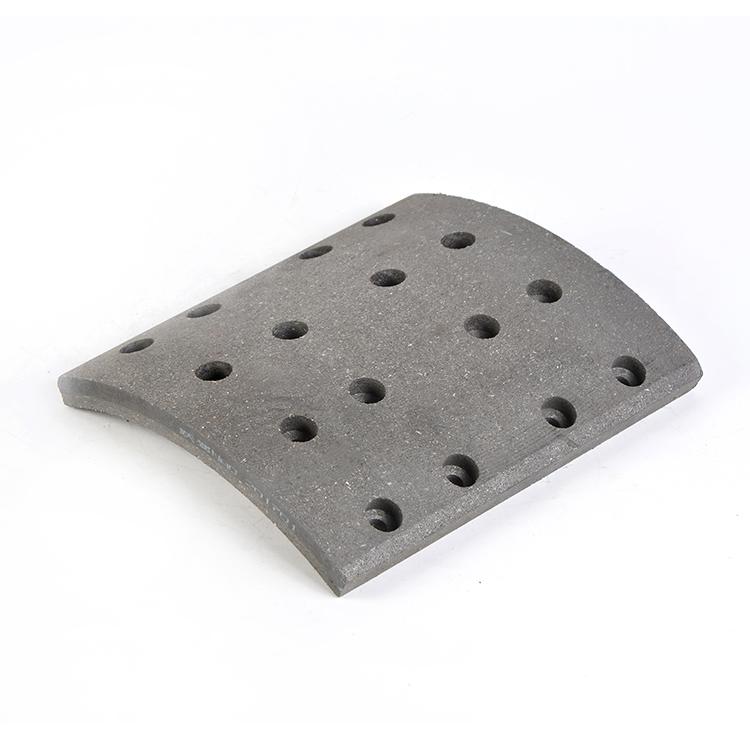 Semi-metall platte lkw-anhänger hinten vorne trommel bremsbelag