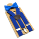 Customized Suspenders Bow tie Set Kids High Elasticity School Student Polyester Material Brace 13 Color Solid to Choose