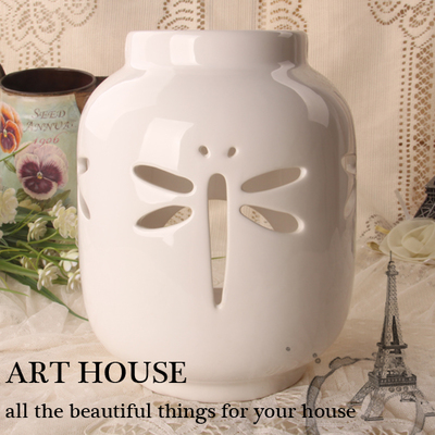 <font><b>Elegant</b></font> Creative personality hollow Ceramic candle holder desktop ornaments ceramic candlesticks <font><b>Home</b></font> <font><b>Decorations</b></font> Gifts