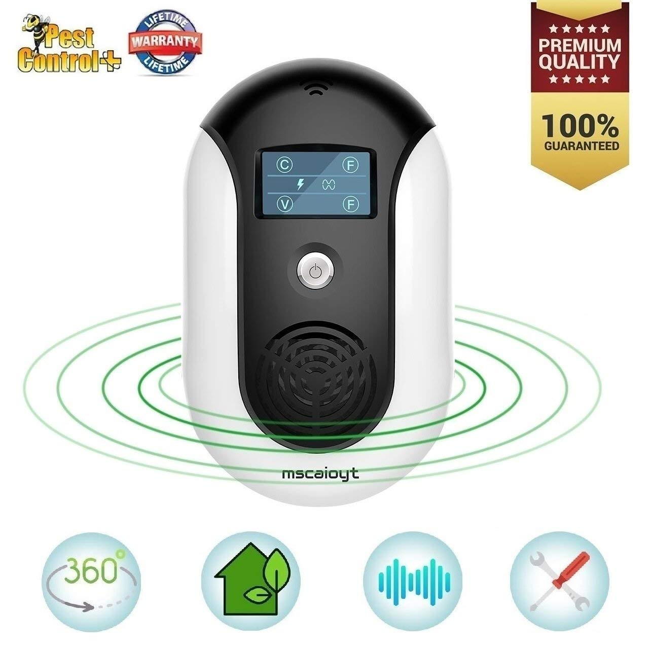 Pest Repellent Ultrasonic Pest Control Mouse Plug in Indoor Outdoor Electronic Control Rodent Mosquito Insect Roach Spider Ant Rat And Flea Safe Control NO Chemicals Ultrasonic Pest Repeller (Black 1)