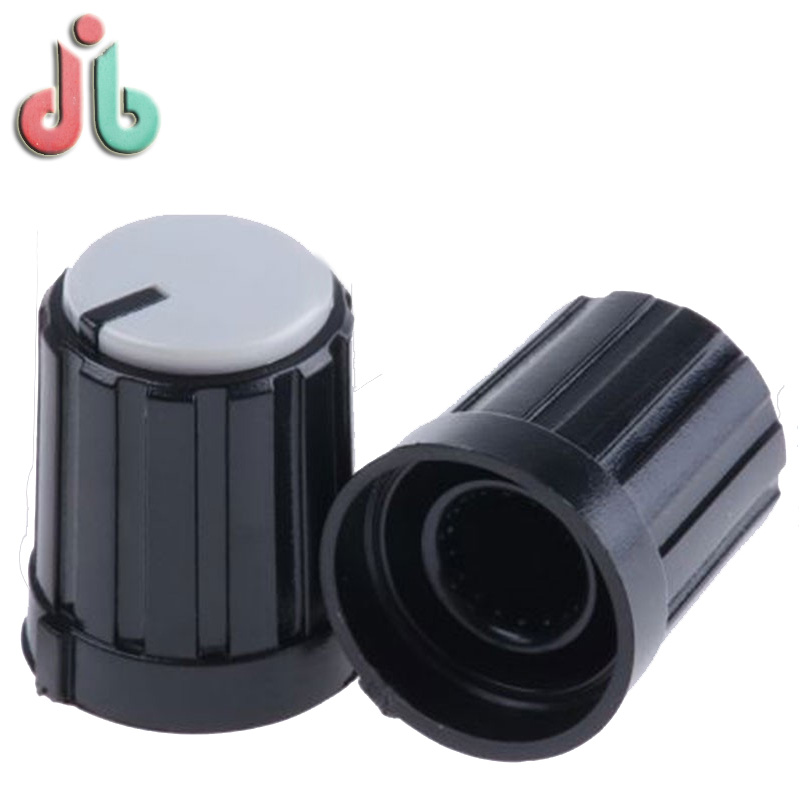Custom Precision Round Square Plastic Rotate Potentiometer Switch Cap in Injection Molding