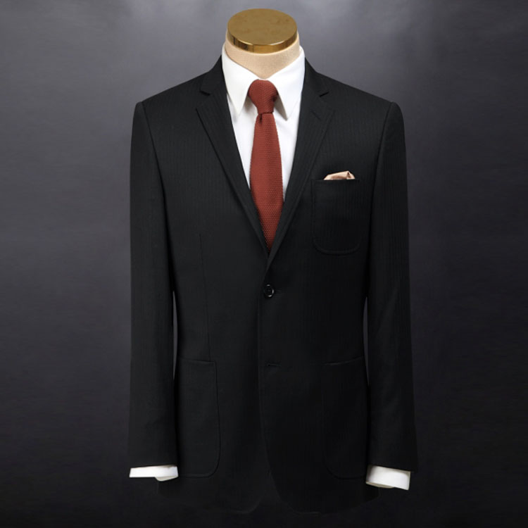 Formal business party italy mens suit two black buttons wool suit office low price latest coat pant designs suits for men.