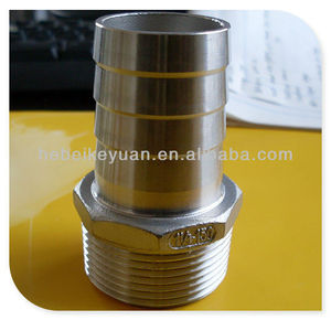 standard weight 150# stainless steel threaded hose nipple,casting