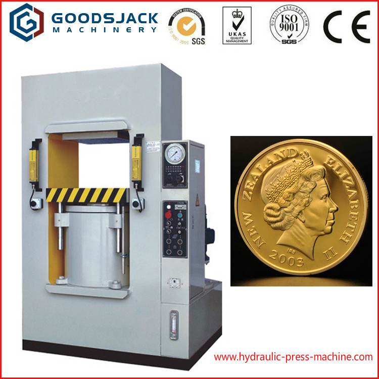 Competitive Price Frame Type hydraulic metal coins stamping press making machine 200 ton