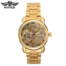 Top luxury brand WINNER automatic skeleton watch machinery flywheel transparent watch New Mechanical Hollow watches