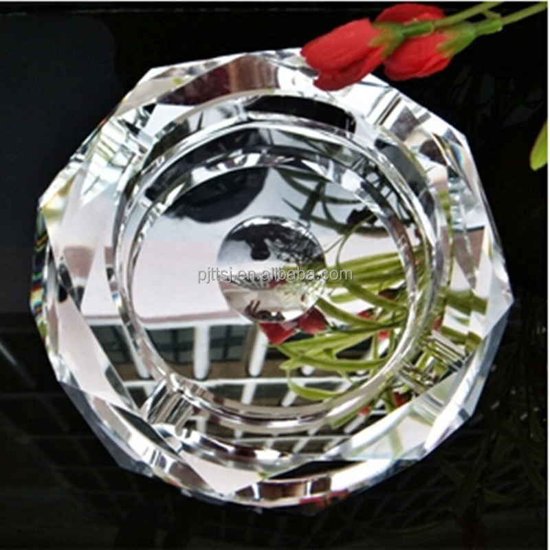 High-grade transparent crystal ashtray handmade Custom crystal gifts