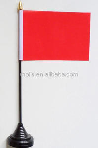Plain Red Table Flag