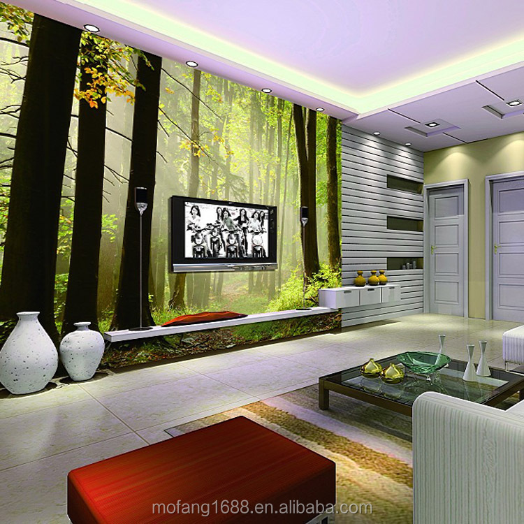 s und spezielle wandbild sofa hintergrund hause 3d iloilo city tapete wandbild natur wald. Black Bedroom Furniture Sets. Home Design Ideas