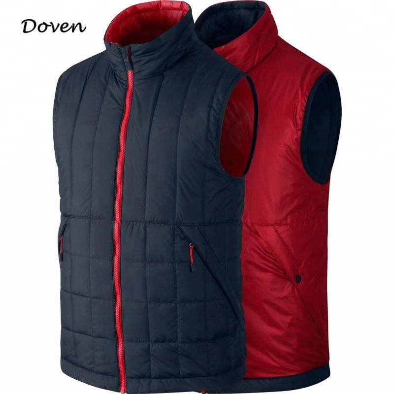 Eco-friendly anti-shrink reversible vintage winter vest