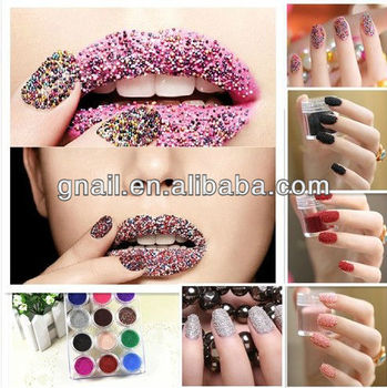 Caviar Manicure Microbeads 3d Nail Art Gelnaturalacrylic Nails