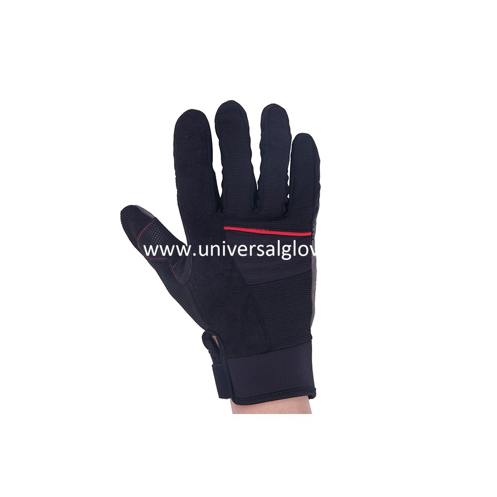 Pro Custom Sports Climbing Glove Anti-Skip Durable Mountain Climbing Gloves full-Finger Leather Rock Climbing Gloves