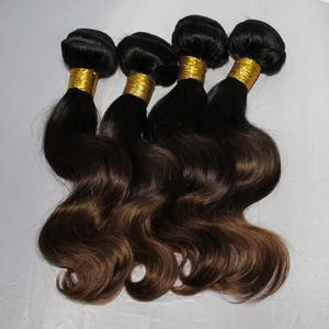New coming Indian ombre hair weaves 2 tones and 3 tones body wave from 10 to 28inch