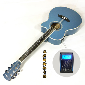 Cheap price wholesale acoustic bass electric guitar with 5 band EQ pickup