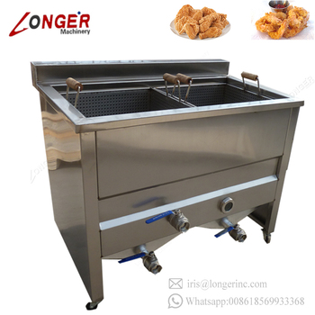 Double Tank Electric Gas Chicken Potato Chips Small Deep Fryer