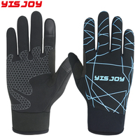 Custom thin running gloves thinsulate waterproof warm winter leather sports gloves