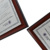 Wooden a4 size double mat award graduation document diploma degree certificate frame