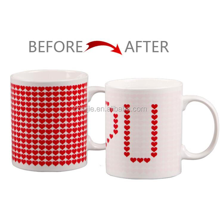 Wholesale Custom Unique Design Ceramic Sublimation Color Changing Mugs