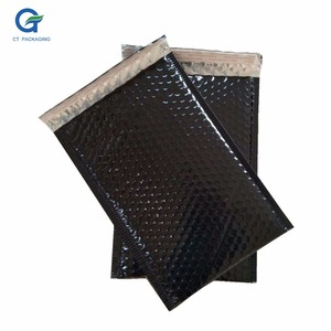 Customized Printed Multicolor Embossed Black Metallic Bubble Envelope / Aluminized Foil Bubble Bags/Poly Bubble Mailers
