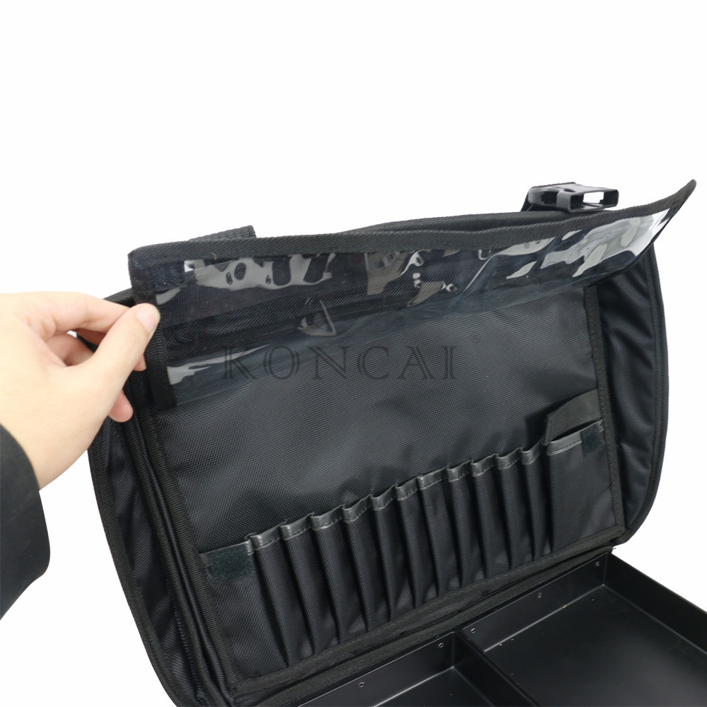 Professional & Multifunctional 2 In 1 Custom Nylon Cosmetic Makeup Case
