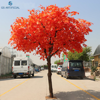 China Factory Artificial Japanese Red Maple Tree Plastic Leaves