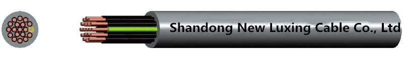 Cable de control de conductor rígido forrado PVC aislado XLPE 450 / 750V