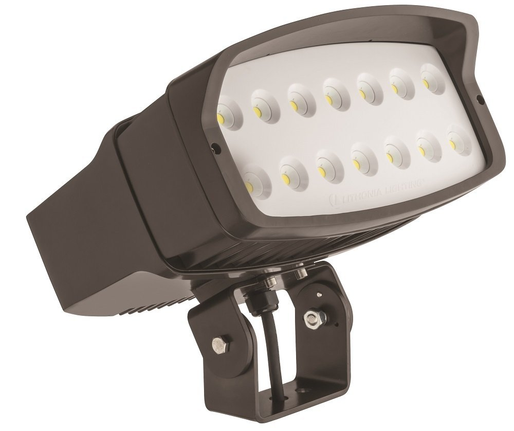 Lithonia Lighting OFL2 LED P3 50K 347 YK DDBXD M2 5000K Color Temperature LED Size 2 Floodlight with P3 Performance Package - Yoke Mount
